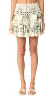 Короткая юбка с бахромой на подоле Camilla