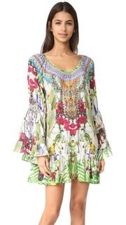 Платье трапециевидной формы с оборками Camilla