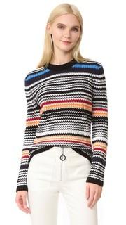 Свитер-пуловер в разную полоску Edun