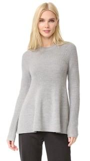 Расклешенный свитер с длинными рукавами Grey Jason Wu