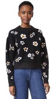 Пуловер с ворсованным цветочным рисунком Rebecca Taylor
