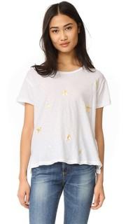 Свободная футболка с золотыми звездами Sundry