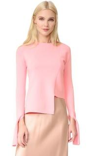 Асимметричный свитер с округлым вырезом Tibi