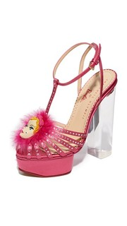 Сандалии на платформе Barbie Girl Charlotte Olympia