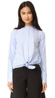 Рубашка из ткани оксфорд в стиле смокинга Helmut Lang