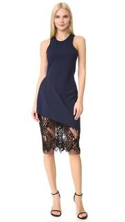 Платье с кружевной юбкой и спиной-борцовкой Michelle Mason