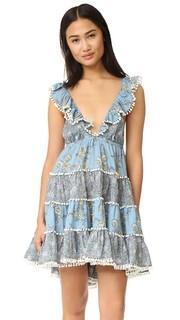 Многоуровневое летнее платье Caravan Zimmermann