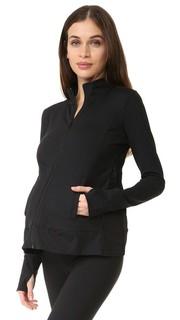 Спортивная куртка для беременных с молниями по бокам Ingrid & Isabel