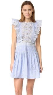 Оборчатое платье с кружевным шитьем Sea