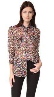 Блуза с цветочным рисунком The Kooples