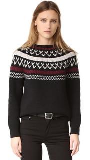 Трикотажный свитер с отделкой Anine Bing