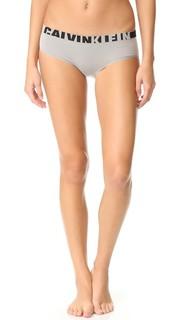 Бесшовные трусики-шорты с логотипом Calvin Klein Underwear