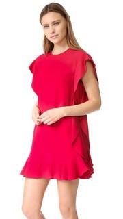 Платье с оборками из крепа RED Valentino