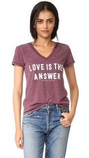 Футболка с надписью «Love is the Answer» Spiritual Gangster