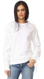 Пуловер с завязками со сборками Dkny