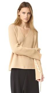 Кашемировый свитер с V-образным вырезом Helmut Lang