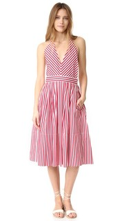 Платье с американской проймой и V-образным вырезом MDS Stripes