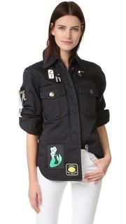 Рубашка с мягкой подкладкой в стиле милитари Marc Jacobs