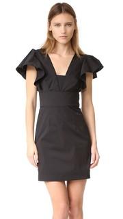 Платье Deni из ткани в рубчик Milly