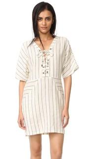 Платье-халат со шнуровкой и рукавами «летучая мышь» Maven West