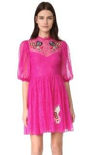 Кружевное мини-платье Leo Temperley London