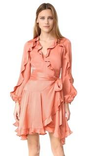 Платье-халат Winsome с воланами Zimmermann