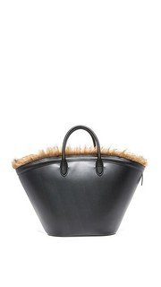 Объемная сумка Marche из искусственного меха с короткими ручками Vasic Collection