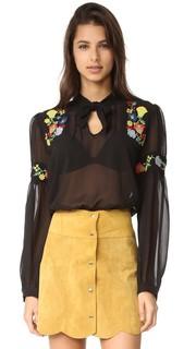 Блуза с вышивкой Garden Anna Sui