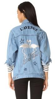 Свободная куртка LAvenue Des Stars с изображением фламинго Etre Cecile