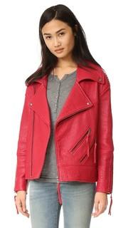 Кожаная куртка Brutus Rebecca Minkoff