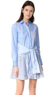 Платье-рубашка с завязкой на талии Derek Lam 10 Crosby