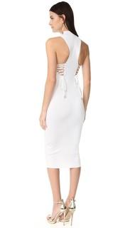 Платье с глубоким вырезом со шнуровкой на спине Cushnie Et Ochs