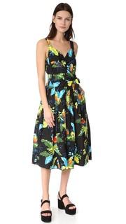 Платье с корсетным лифом и принтом в виде попугая Marc Jacobs