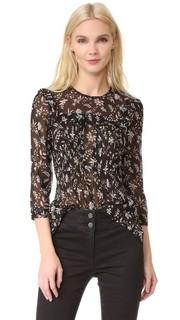 Блуза Thompson с передней застежкой и оборками Veronica Beard