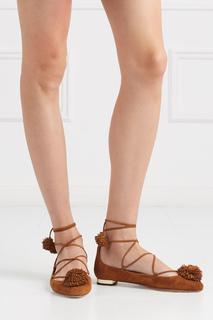 Замшевые туфли Sunshine Flat Aquazzura
