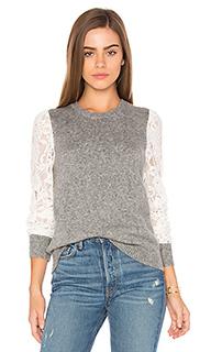 Пуловер с кружевными рукавами - Rebecca Taylor