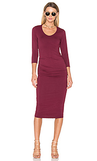 Ruched midi dress - Michael Stars