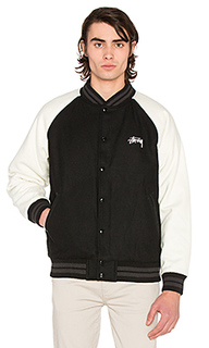 Two tone wool varsity jacket - Stussy