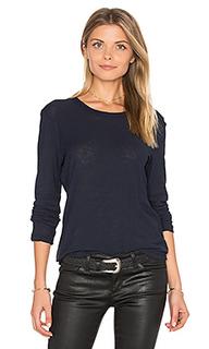 Пуловер с длинным рукавом и круглым вырзезом - James Perse