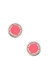 Серьги с подвесными дисками с логотипом - Marc Jacobs