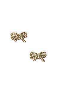 Pave twisted bow stud earrings - Marc Jacobs