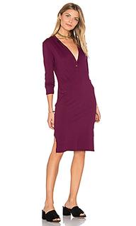 Платье на пуговицах с длинным рукавом - Bobi