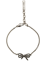 Pave twisted bow chain bracelet - Marc Jacobs