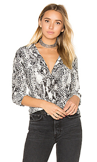 Slim signature snake print button up - Equipment
