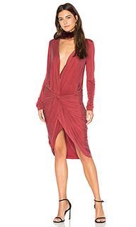 Платье с асимметричным подолом adele - YFB CLOTHING