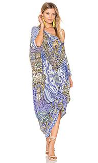 Платье в восточном стиле с круглым вырезом - Camilla