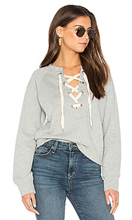Front lace sweatshirt - Sincerely Jules