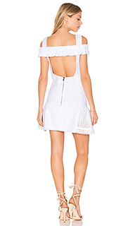 Marthe lace elastic frill mini dress - By Johnny