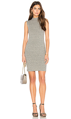 Rib mock neck mini dress - Enza Costa