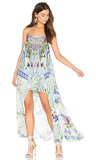 Мини платье с длинным оверлеем - Camilla